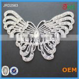 Hot sale cheap crystal applique for wedding rhinestone applique