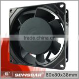 Ac Axial Fan SA8038M2B LED Cooling ABS/PBT Impeller Aluminum Frame Bathroom Exhaust Ventilation AC Fan