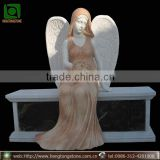 Marble Angel Design Memorial Monument Headstone