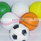 Factory wholesales Mini Football Stress Ball/Mini Basketball Stress Ball/Mini Tennisl Stress Ball
