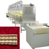 tunnel continuous conveyor belt type microwave machine for drying egg tray