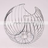 2016 Wholesale New Stainless Steel Fruit Basket,Metal Bread Basket BSCI