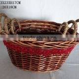 Natural woven willow garden baskets China supplier