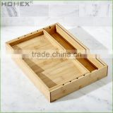 100% Pure Bamboo Utensil Tray and Utility Drawer Organizer/Homex_BSCI