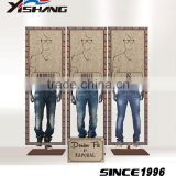 Copper men jeans display rack for shopping mall furniture