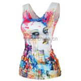 OEKOTEX-CERTIFICATE Factory Custom polyester dry fit sublimation sleeveless shirt