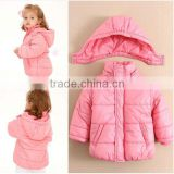 MOM AND BAB kids collect waist baby quilted coat, hot sale girls quilted coats