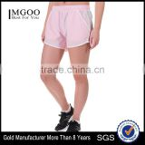 MGOO Hot Sale 100% Polyester Women Crossfit Shorts Transparent White Binding Dri Fit Shorts
