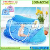 4pcs/Set Baby Crib Sets Portable Folding Type Comfortable Infant Pad with Sealed Mosquito Net Baby Mosquito Net Baby Bedding