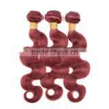 Xuchang Hair Factory Wholesale Price Unprocess 7A Grade Body Wave Human Hair Weave Colored 33#