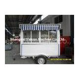Strong Steel Food Concession Trailers Mobile Food Catering for Huamburgers