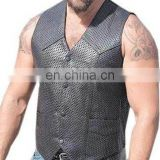 Gents Leather Vest Art No: 1326