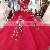 LS00373 red bodycon dress appliques pattern long evening dress ball gown with a train plus size party dress