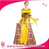 wholesale China Supplier Medieval Costume Adult Sexy Halloween Costume long Fancy Dress Costume