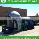 Giant inflatable football helmet tunnel, large football inflatable helmet, inflatable advertising helmet tunnel