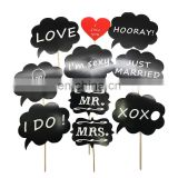 Chalkboard Photo Booth Props for wedding party