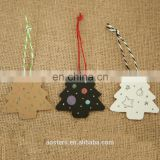 DIY Kraft Christmas Tree Shape Hang tag Christmas Party Decoration Paper Cards Gift tags Labels