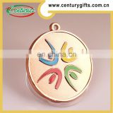 Factory price professional kunshan custom sports award metal medallion medals with custom ribbons
