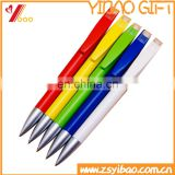 Colorful Plastic ball pen /ball-point in pad printing for black/blue ink