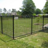European style simple tubular steel fence for UK