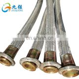 Acid and Alkali Resistance Stainless Steel Braid Cover PTFE Flexible Steam Hose With Coupling