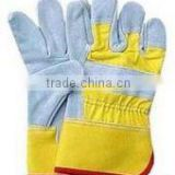 Cow Split Full Palm Industrial Leather Hand Gloves Leather Safety Glove