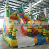 Manufacturer direct sell inflatable water slide with pool/0.55mm PVC tarpaulin made slide with pool