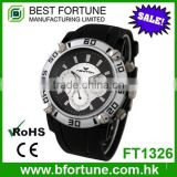 FT1326 2016 fashion sports chronograph function 24 hour hand watch for man