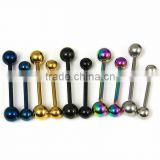 Anodized Tongue Rings Barbells Wholesale Body Jewelry Tounge