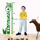 kids cartoon height measurement wall stickers