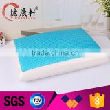 hybrid pillow with cooling gel and viscoelastic foam, gel charmber pillow for nursing, heat relieve