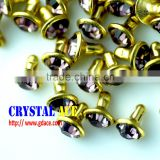 Wholesale rhinestone rivet, decorative rhinestone strass rivet, brass rhinestone rivet for decoration