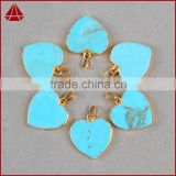 Fashion Heart Shape Chain Statement Necklace howlite turquoise pendant necklace for girls                                                                                                         Supplier's Choice