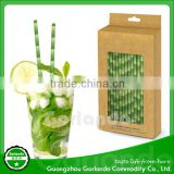 Bamboo Design Wholesale Disposable Drink Striped Paper Straws                                                                                                         Supplier's Choice