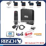 M8 TV BOX Full HD Media Player 2GB RAM 8GB Flash Amlogic S802 Android 4.4 Support 1080p smart Set top TV BOX