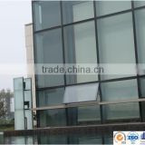 frameless glass curtain wall/double wall glass cup/Construction easy aluminum frameless glass curtain wall