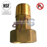 NSF61 approved low lead brass water meter coupling                                                                         Quality Choice