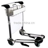 Stainless steel & aluminium material high quality airport luggage cart airport trolley made in China factory direct wholesale