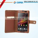 Newest design pu leather mobile phone case for Sony XPERIA UL SOL22