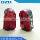 New Traffic Light Shape CE Certificates Bicycle Warning LED Laser Tail Light / 6 LED High Light and High Quality Material