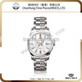 Business fashion casual men geneva quartz stainless steel watch diamond pearl watch factory wholesale