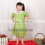 Adorable lime green quatrefoil trick or treat smocked bishop dress in Halloween smocked dresses collection