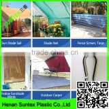 HDPE with UV additives Sun Shade Sail with Stainless Steel Hardware Kit, UV Block Fabric Patio Shade Sail in Color Sand
