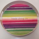 Bamboo fiber Round Serving Tray with your custom design
