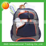 Wholesale Baby Product Multi Compartment Diaper Backpack Bag with Changing Pad