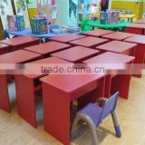 cheap price modern melamine wooden KD dinning table set with chairs manufacture