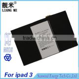 Cheap Factory Selling Direct Replacement OEM lithium polymer Tablet pc Battery 11560MAh For Apple iPad3