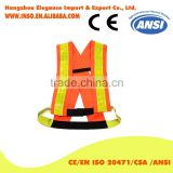Mesh Fabric Self protect Safety Reflective Vest 3M Reflective Tape