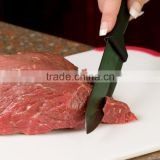 black blade ceramic knife with TPR coating handle 6 inch chef knife