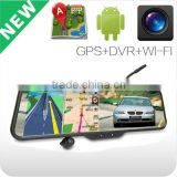 Android GPS Bluetooth Wifi 4.3'' mirrors type DVR with car camera & car audio system with reverse camera